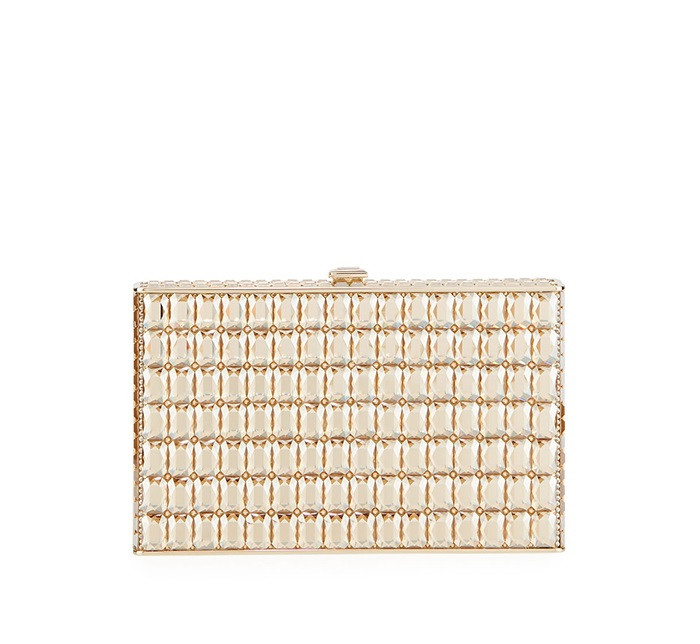 9.	Judith Leiber Couture Side Way Crystal Clutch Bag