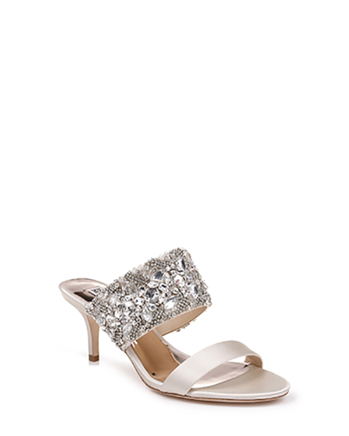 14.	Badgley Mischka Linda Crystal Embellished