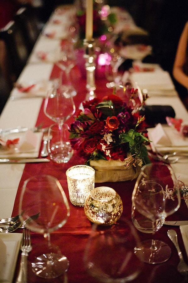 Mahogany Red for wedding decor