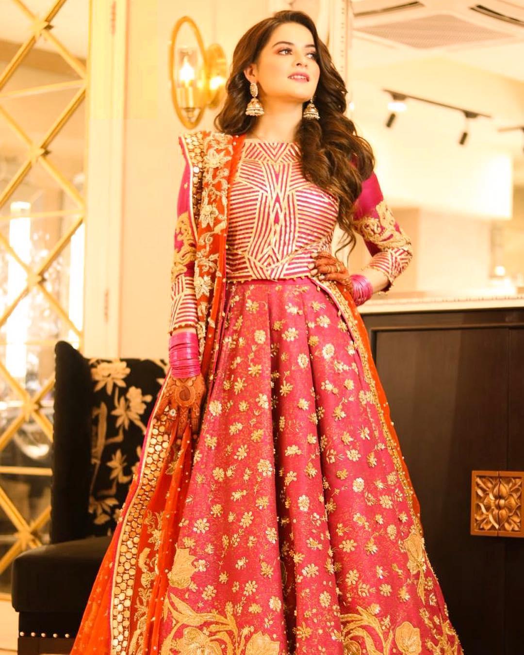 Aiman's Mehendi Bridal Dress