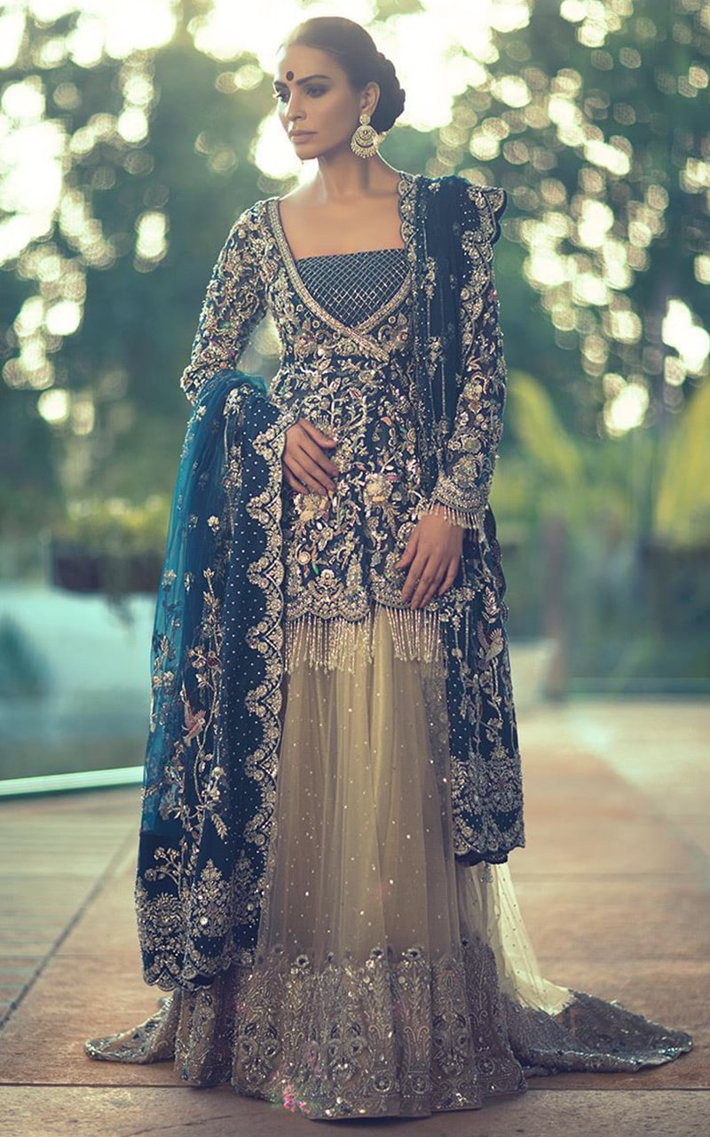 Net Bridal Lehenga for wedding