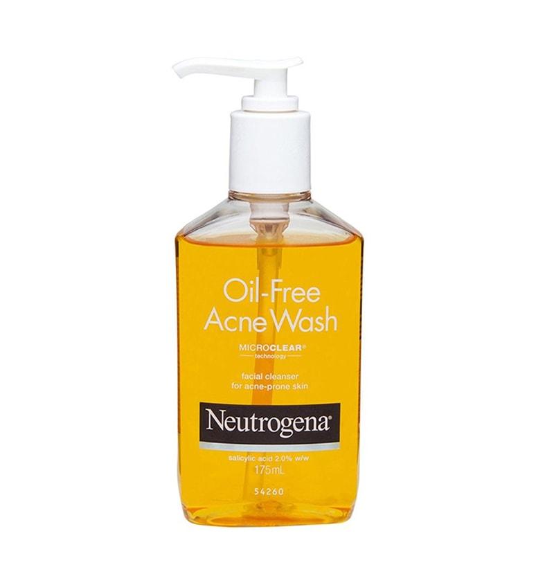 9.Neutrogena Oil Free Acne Face Wash