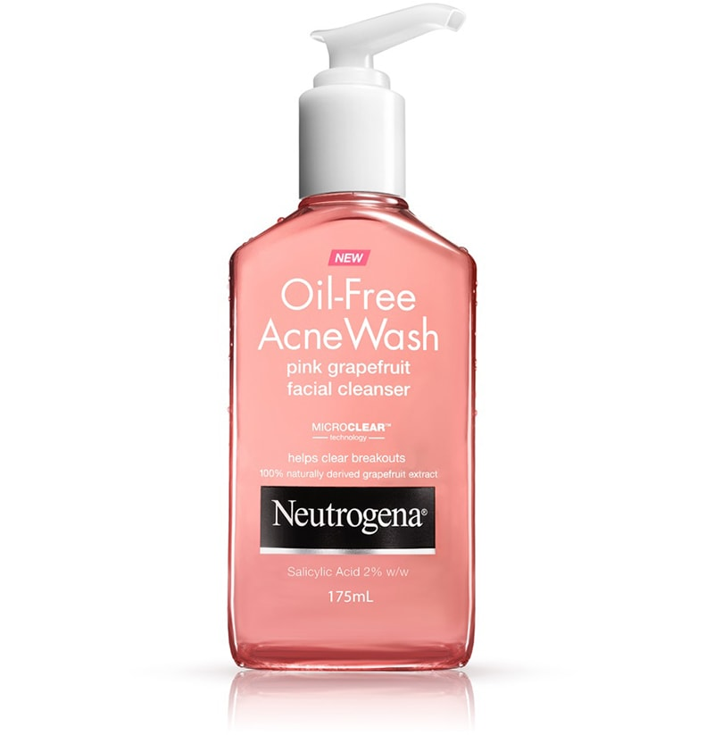 4.	Neutrogena Oil-Free Acne Wash Pink Grapefruit Facial Cleanser