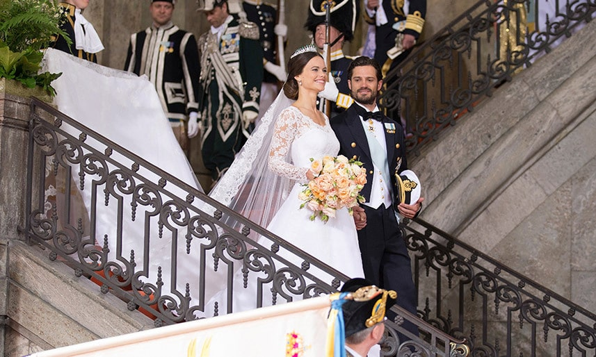 Prince Carl Philip and Princess Sofia at their wedding