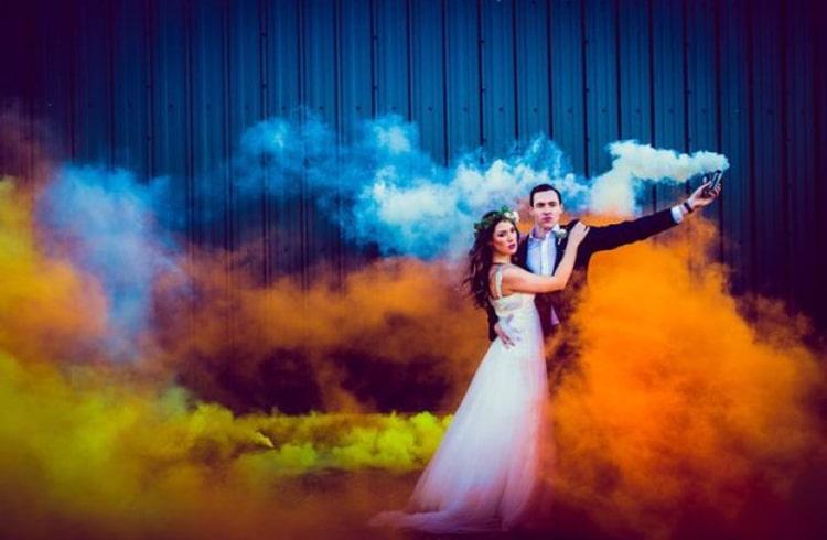 Smoke Bombs for Wedding Ceremony