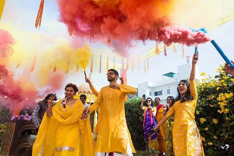 Mehndi Dance Smoke Bombs