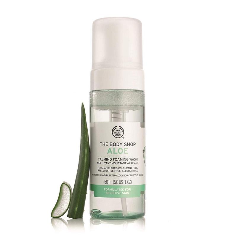 1.The Body Shop Foaming Aloe Vera Facial Wash
