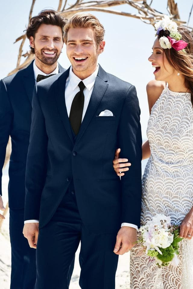 Wearing slim-fitted clothes for groom