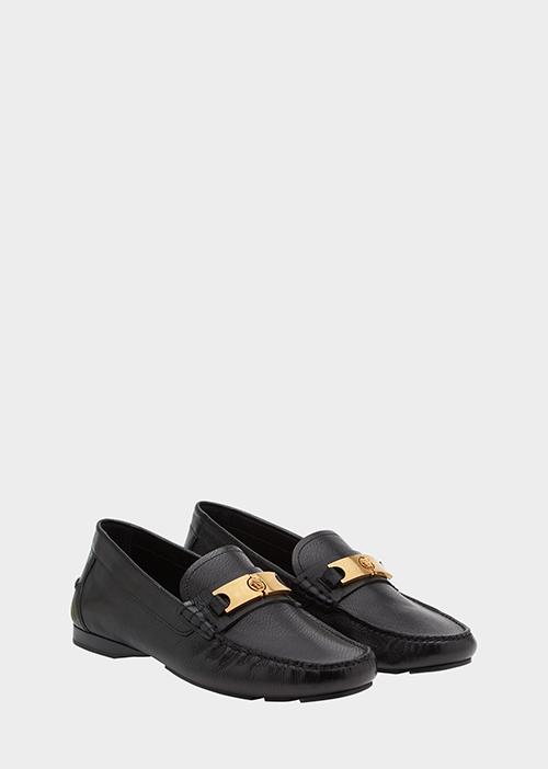 11.Versace Medusa Buckle Loafers