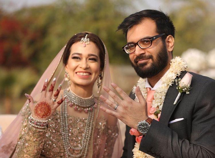 Wasma Imran & Mahin Khan  at their wedding