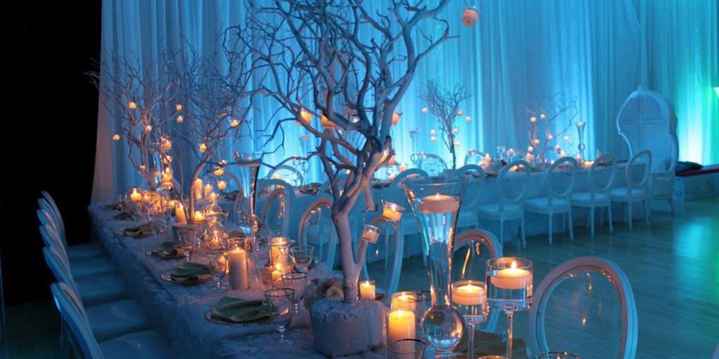 Charming And Magical Ice Blue Winter Wedding Ideas