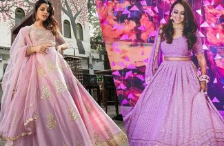 These Pictures Will Force You to Get a Lilac Lehenga for Your Wedding