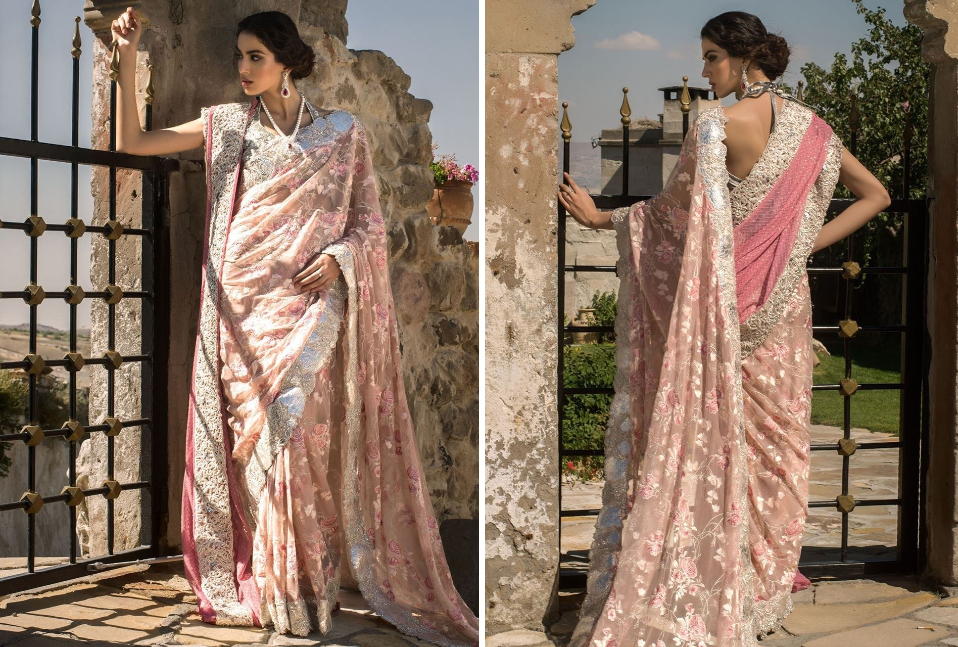Blush Pink Saree for Bridals By Zainab Chottani