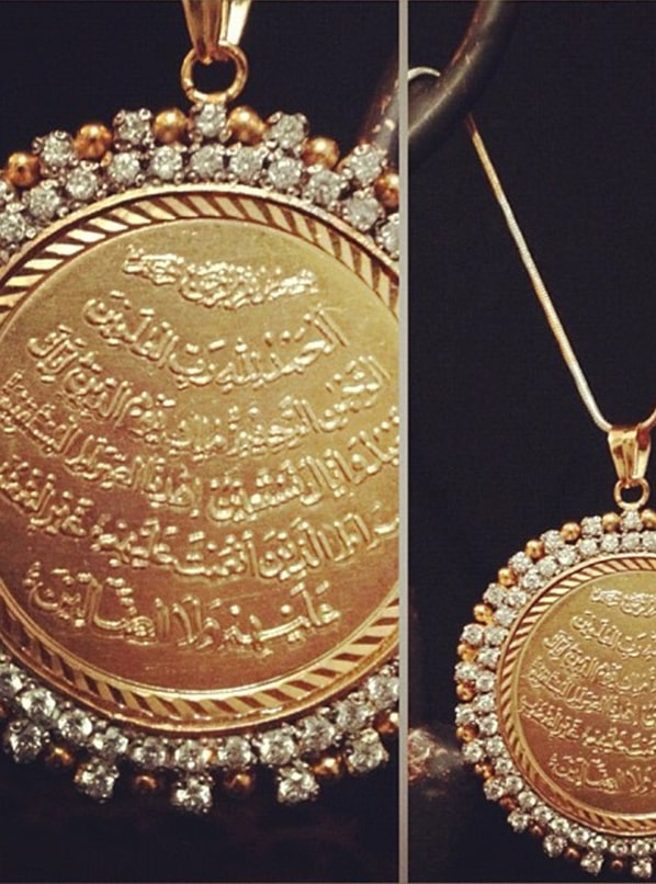 Calligraphy on Jewelry