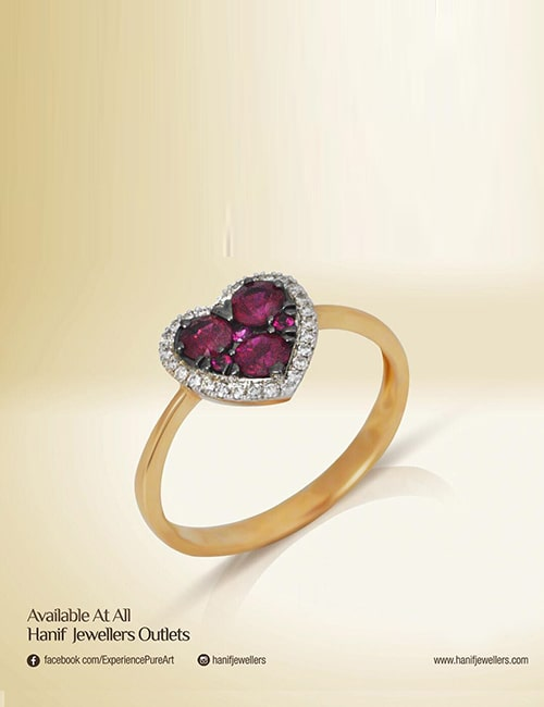 Heart ring by Hanif Jewelry Designs