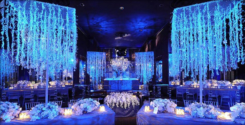 Ice Blue Wedding Decor