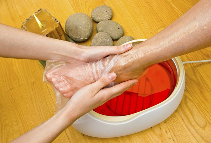 Pedicure with paraffin wax