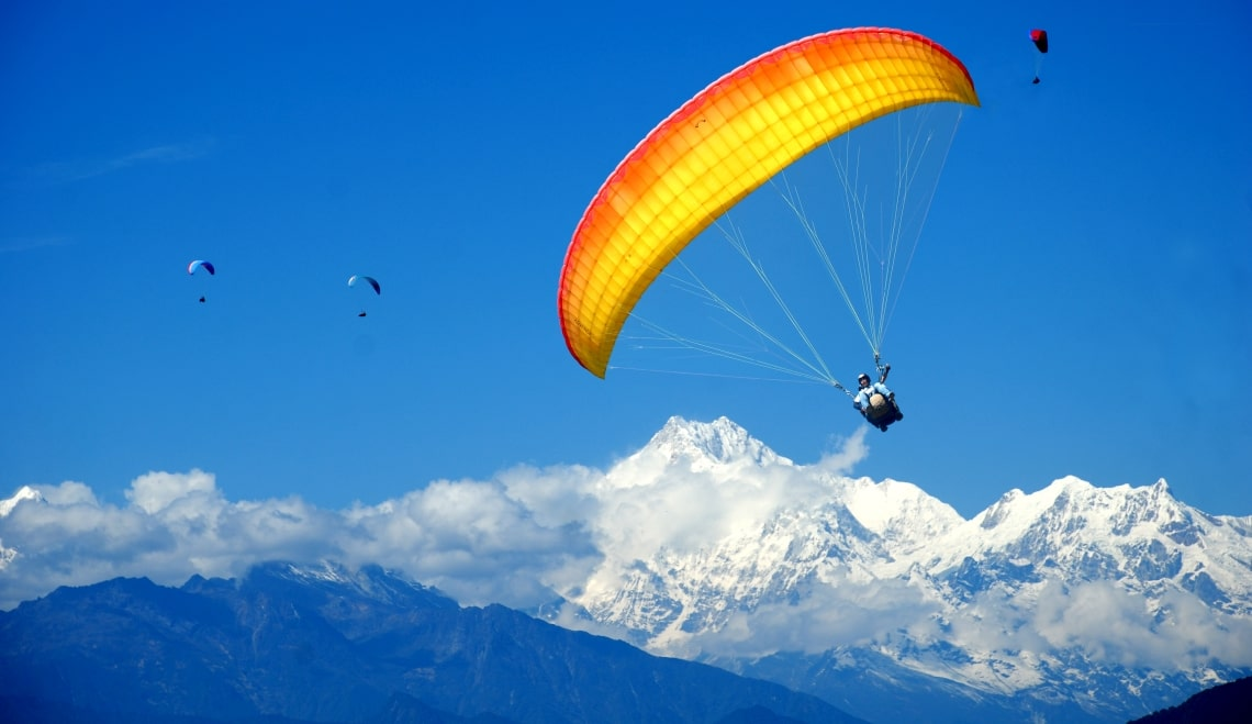 Paragliding at Honeymoon