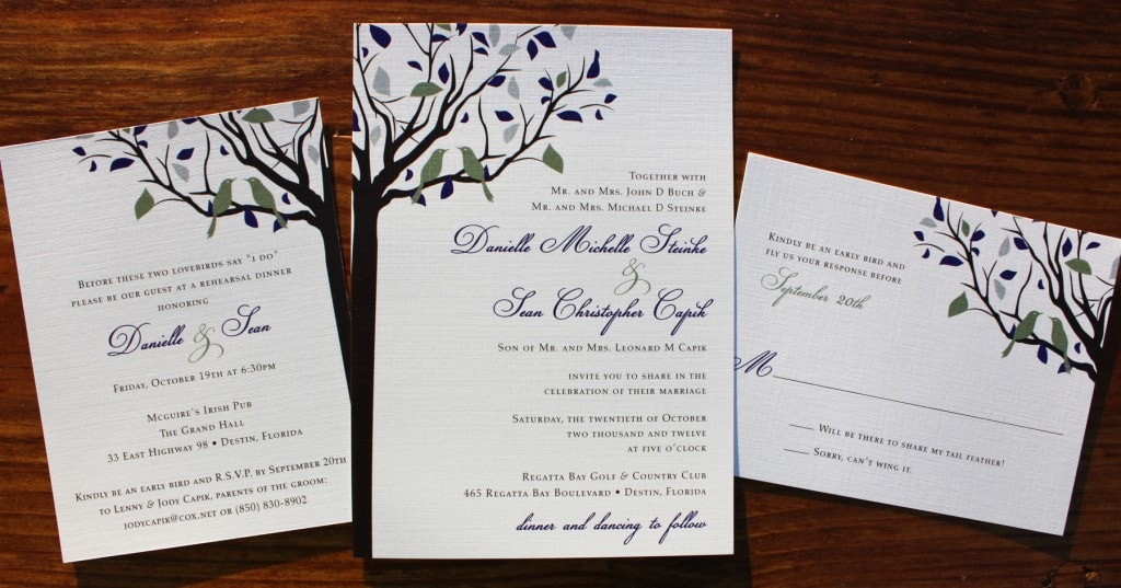 Seasonal Wedding Invitation Card