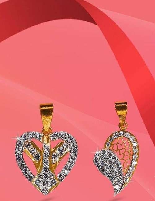 Heart pendant by waseem jewelry
