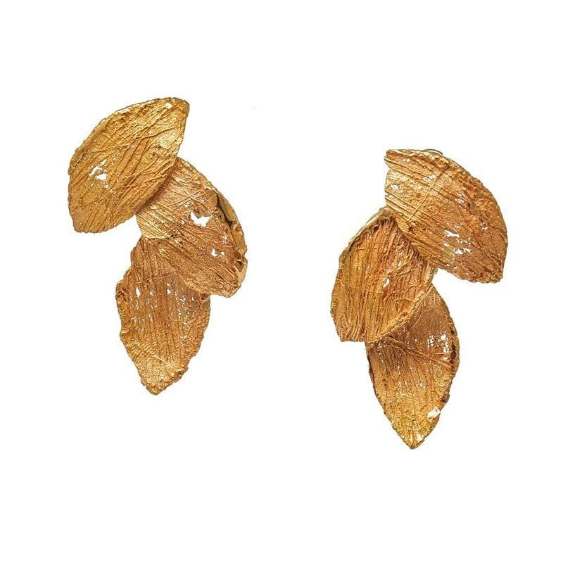6. Delicate Leaf Like Forms In Earrings