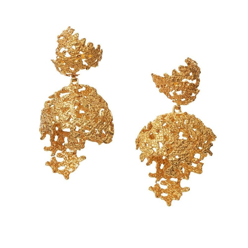 4. Gold Earring Inspired By Sindhi Embroidery
