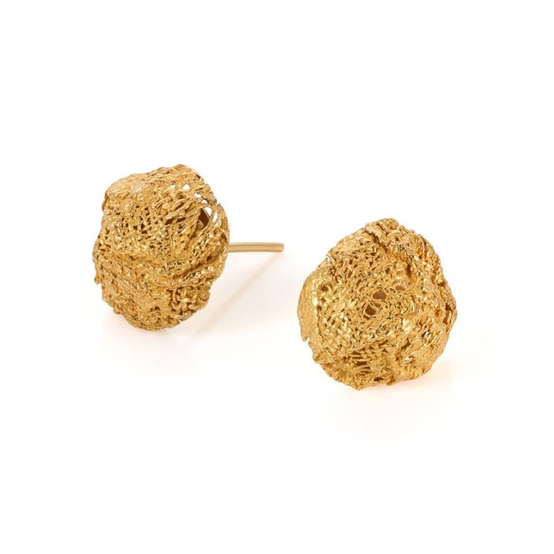 3. Gold Weave Studs
