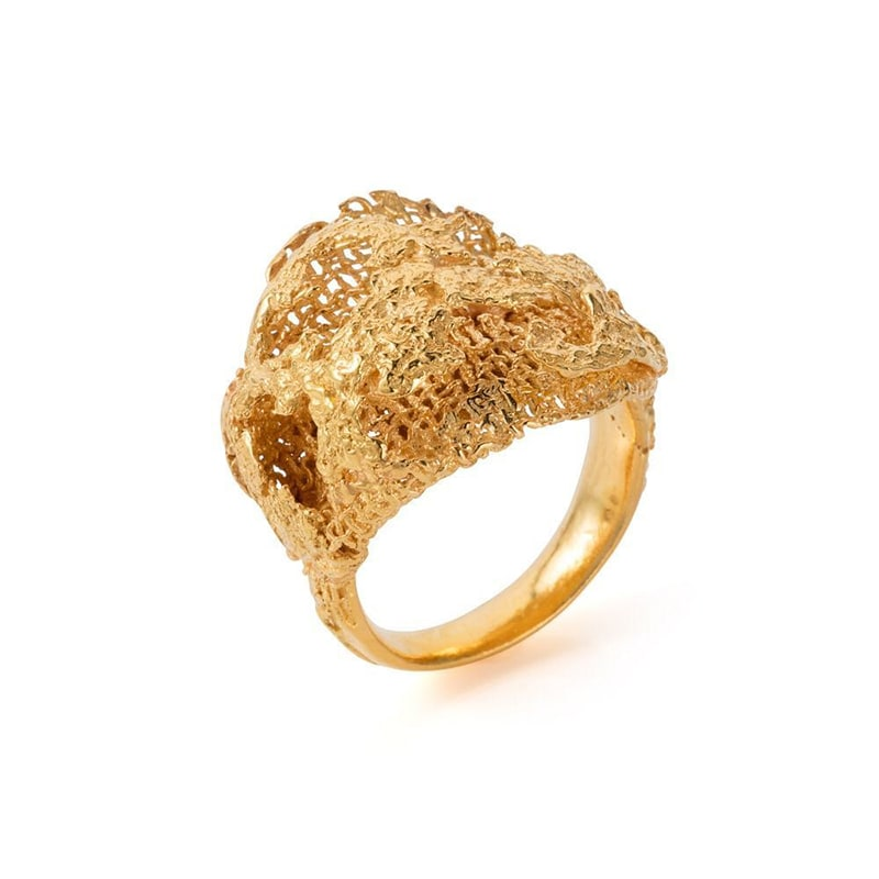 1. Handmade Gold Ring
