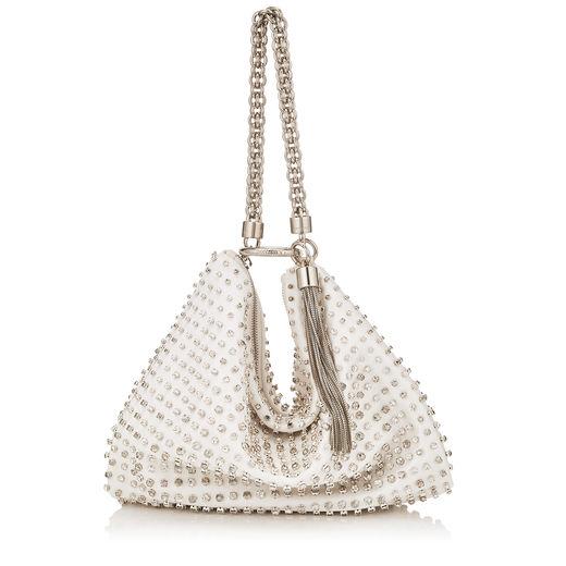 1.Callie White Satin Clutch Bag JIMMY CHOO