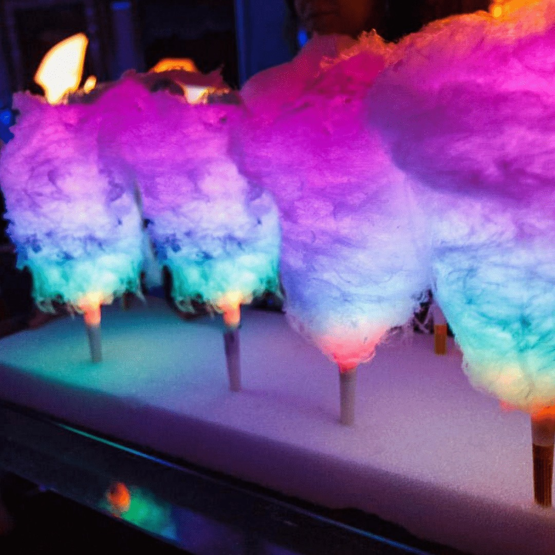 Cotton Candy on Wedding Ceremony