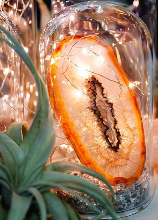 Geode Table Centerpieces