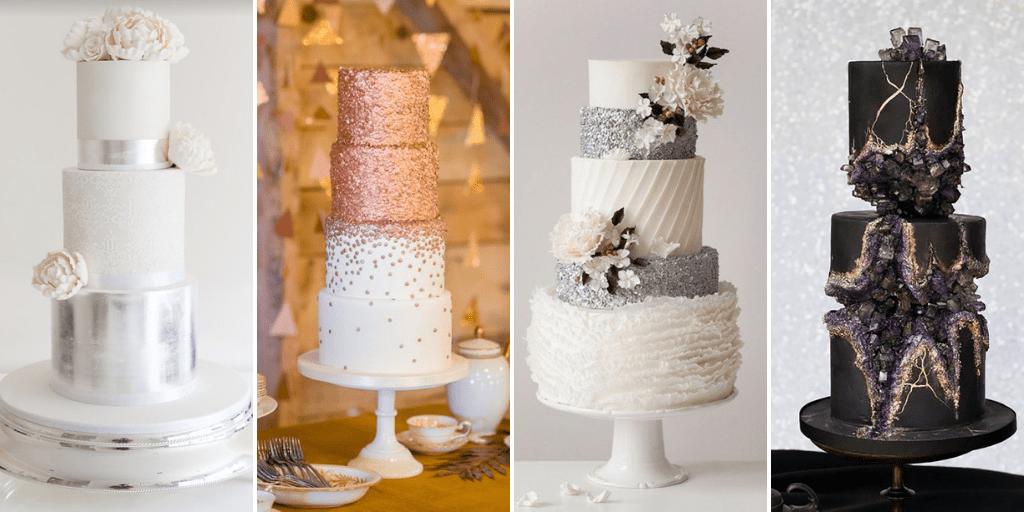 Glitter Decor Wedding Cakes