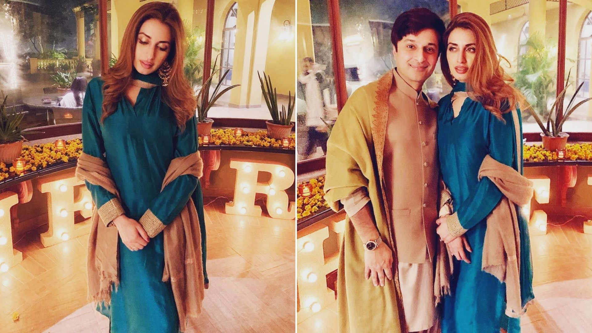 Pakistani Model Iman Aly with her Husband Babar Bhatti
