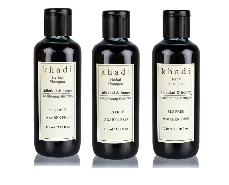 7.	Khadi Shikakai & Honey Shampoo SLS and Paraben Free by Khadi Natural