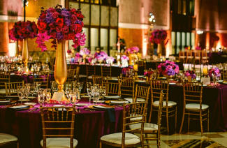 Gold & Magenta Color Scheme For The Lush & Glam Wedding Vibes