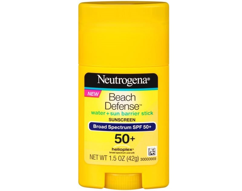 1.Neutrogena Beach Defense Sunscreen Stick SPF 50+
