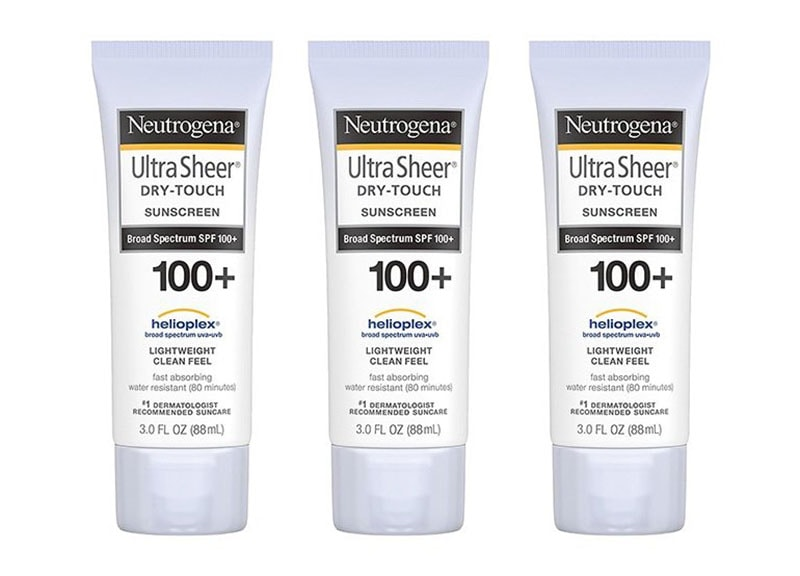 2.	Neutrogena Ultra Sheer Dry-Touch Sunscreen SPF 100+