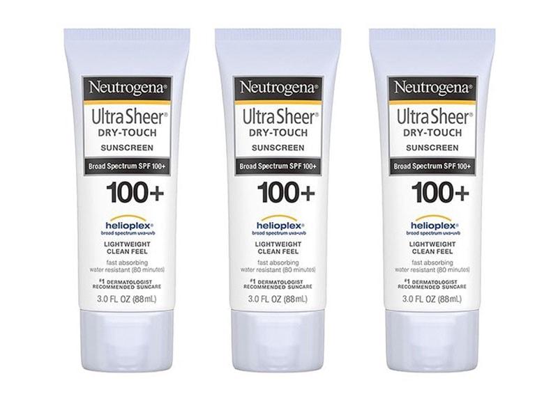 2.Neutrogena Ultra Sheer Dry-Touch Sunscreen SPF 100+