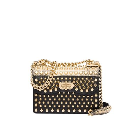 11.Belle Studded Leather Bag PRADA