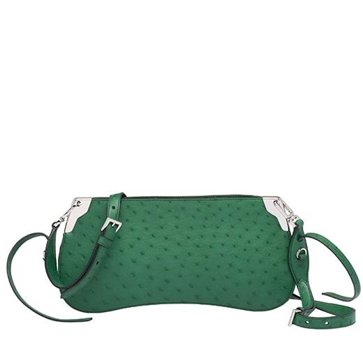 14.Sidonie Ostrich Leather Bag PRADA