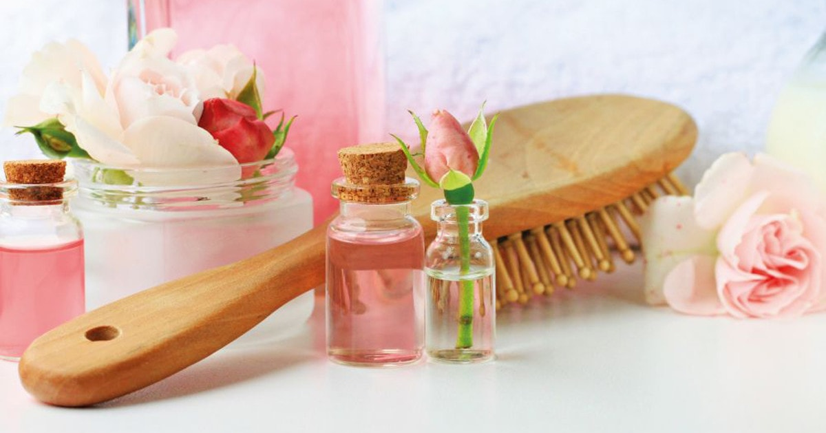 Rose water as your hair scent