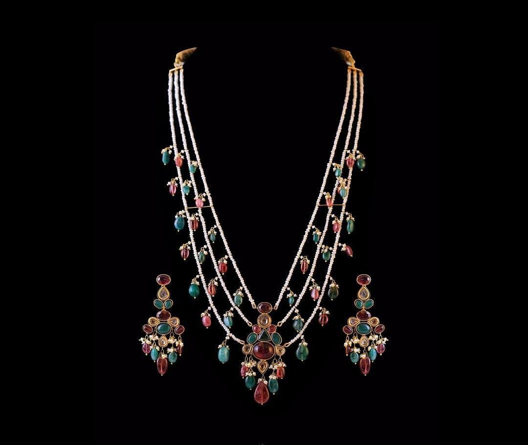 polki diamonds and emeralds