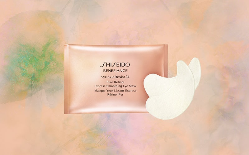 7.Shiseido Benefiance WrinkleResist24 Pure Retinol Express Smoothing Eye Mask
