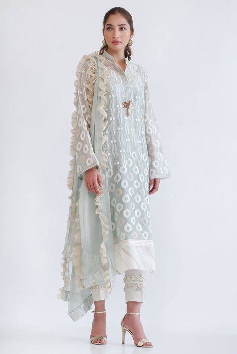 ORGANZA EMBROIDERED SHIRT
