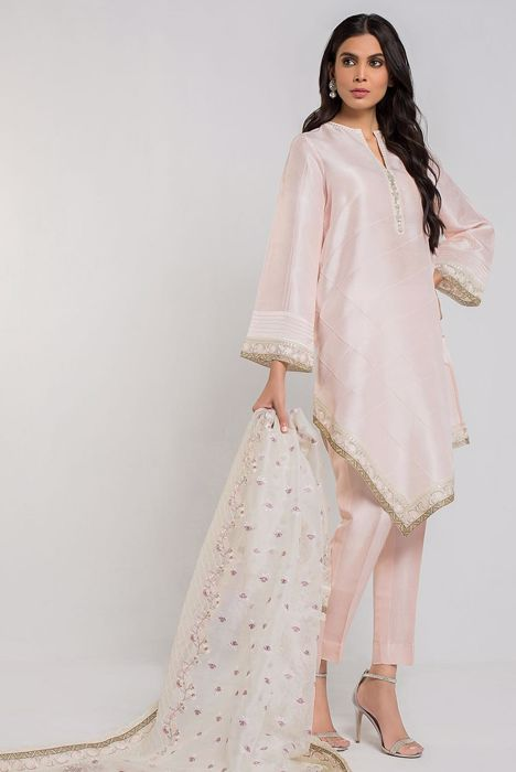 ASYMMETRICAL RAW SILK WITH DUPATTA