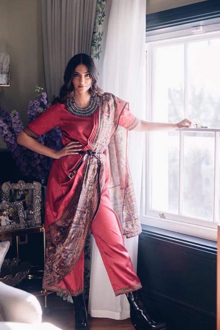 Sonam Kapoor in Rheson Palazzo Saree