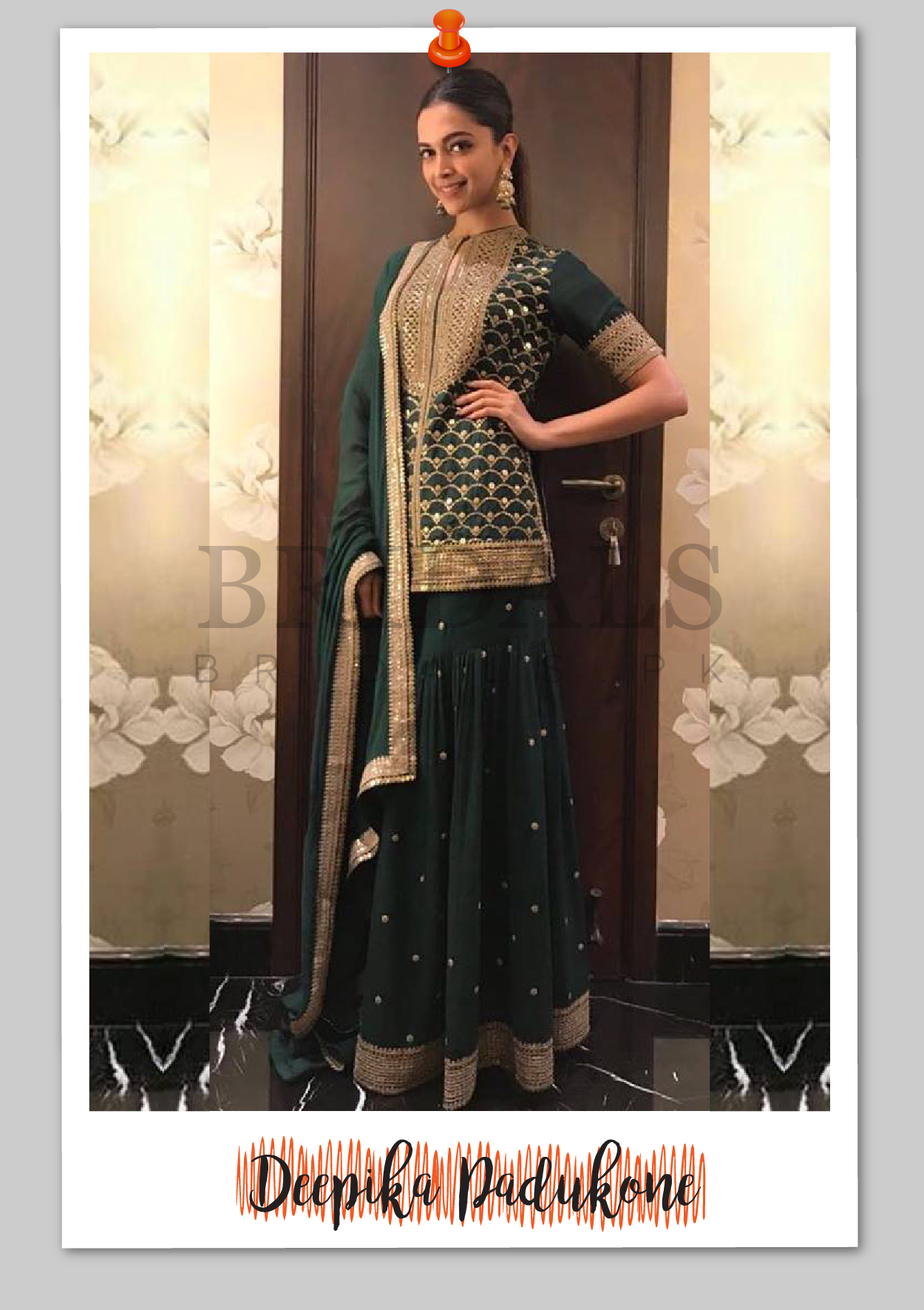 Deepika Padukone Wears Sabyasachi