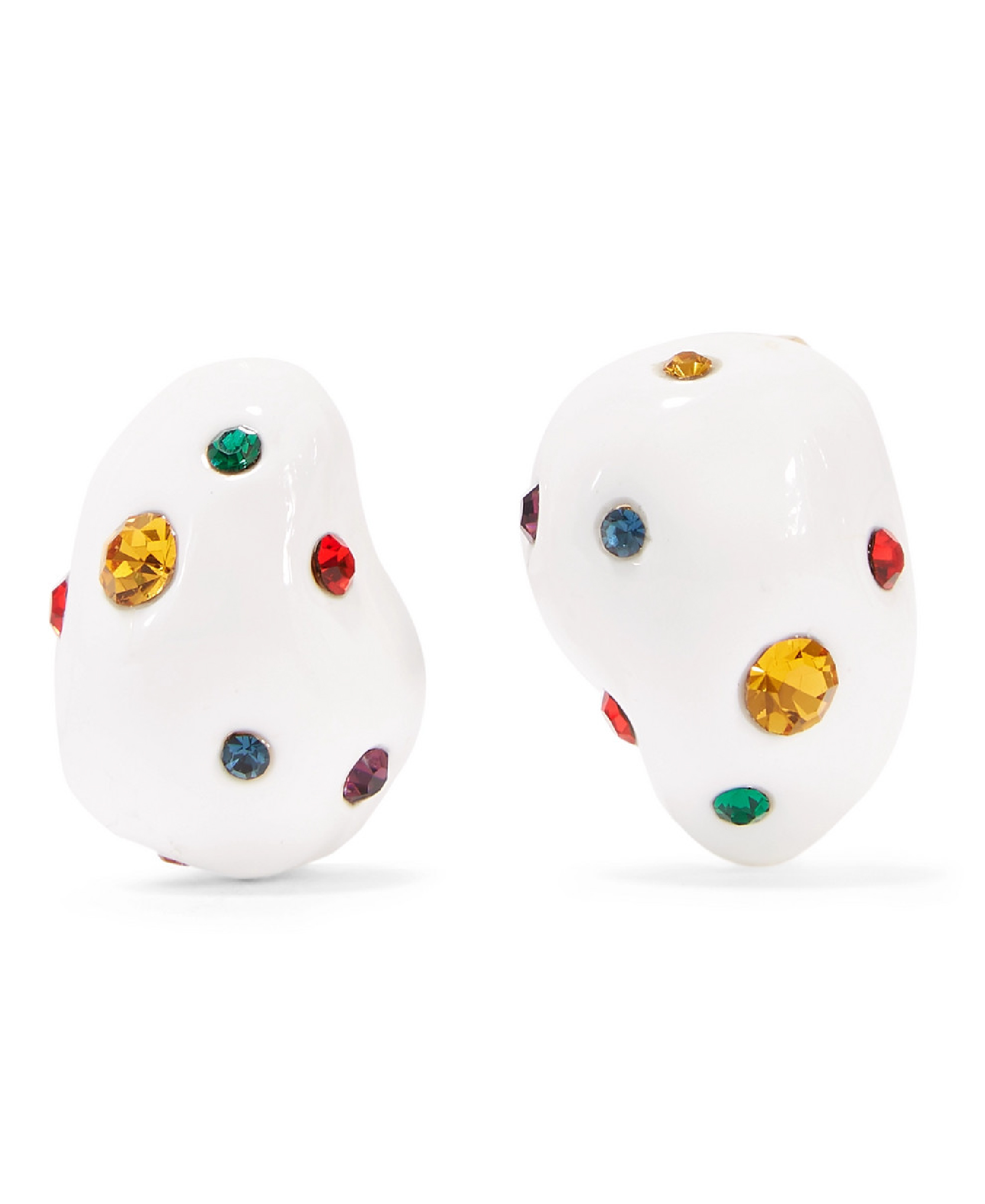 Mounser -  Gold-Plated, Enamel And Crystal Earrings
