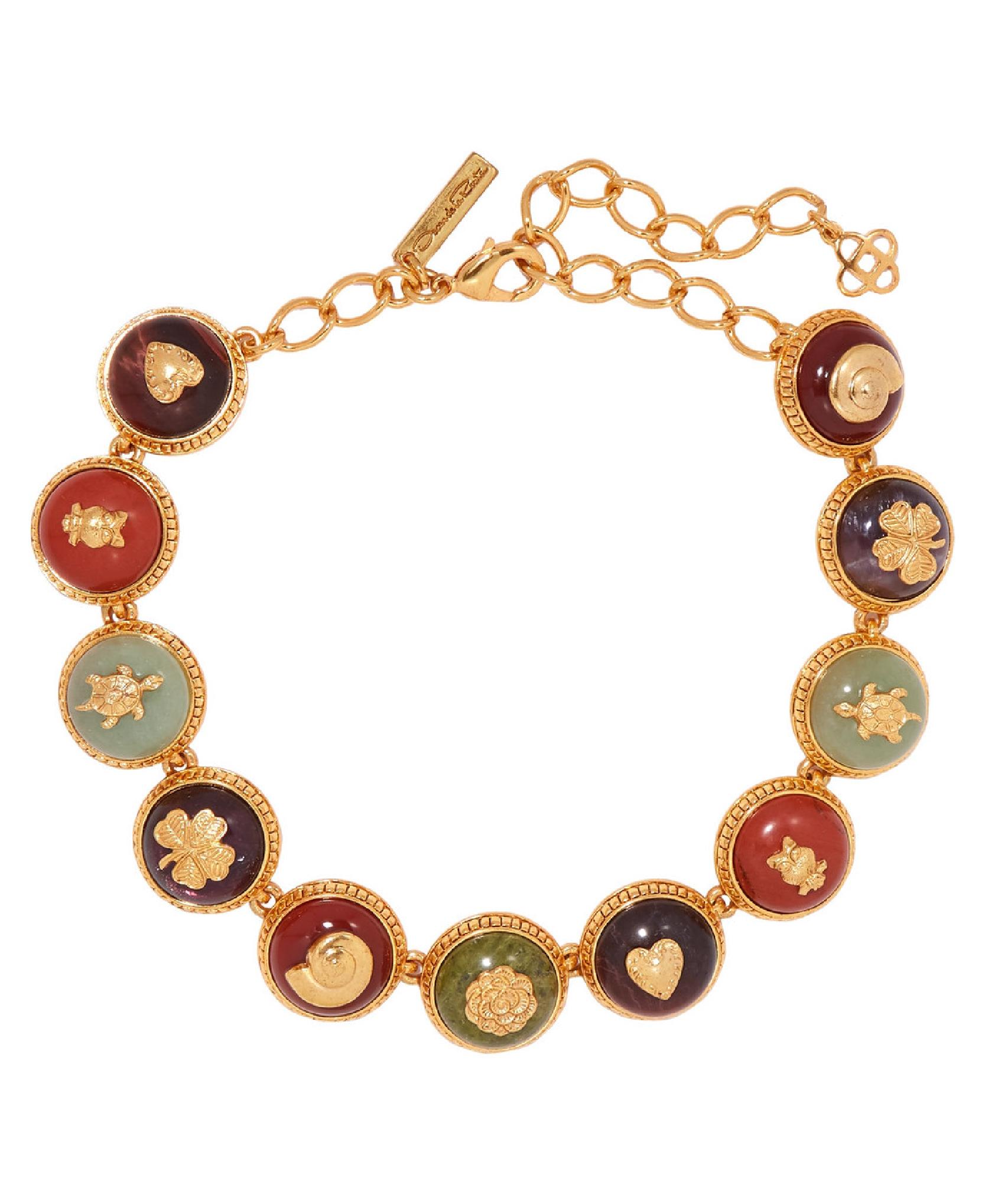 Oscar De La Renta - Gold-Plated And Enamel Necklace