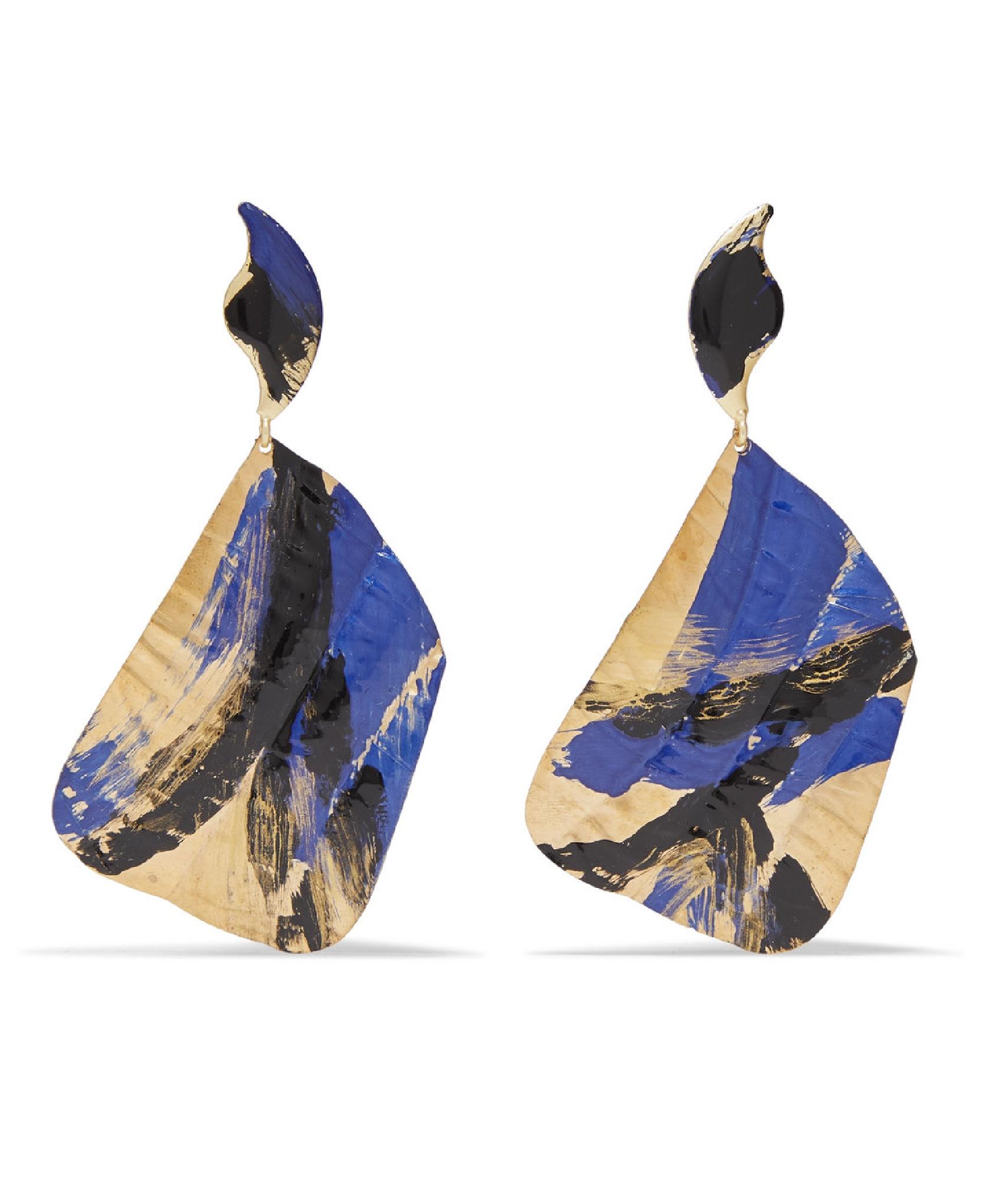 Peet Dullaert + Joshua Osborn Ciel Gold-Plated And Enamel Earrings